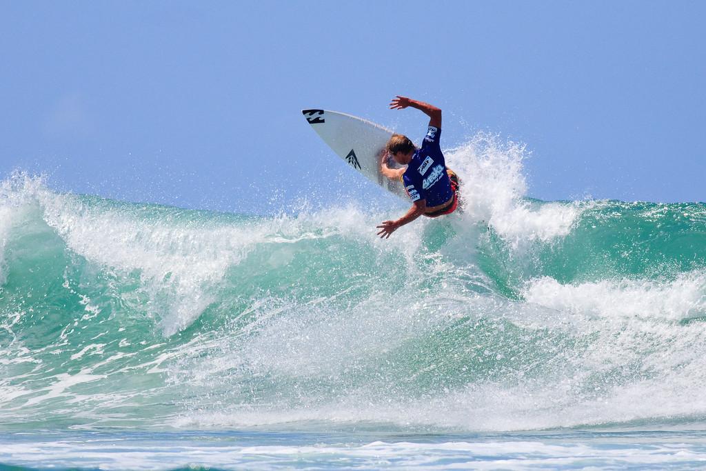 2010 & 2011 Winner, Taj Burrow - 2011 Breaka Burleigh Surf Pro - Surfing - Burleigh Heads, Gold Coast. Saturday 19 February 2011. Photos by Des Thureson.