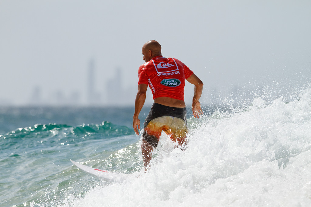 Ten times World Champion Kelly Slater - Expression Session - 2011 Quiksilver Pro Surfing, Snapper Rocks Superbank, Gold Coast. Sunday 6 March 2011. Photos by Des Thureson.
