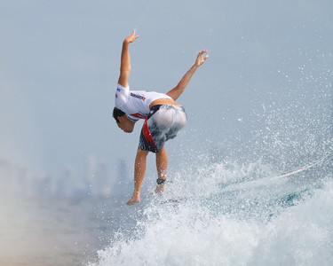 """7 pic sequence: Jordy Smith with the spectacular combined """"bail + aerial"""" - 2011 Quiksilver Pro Surfing - Championship Day, Snapper Rocks Superbank, Coolangatta, Gold Coast. Wednesday 9 March 2011. Photos by Des Thureson."""