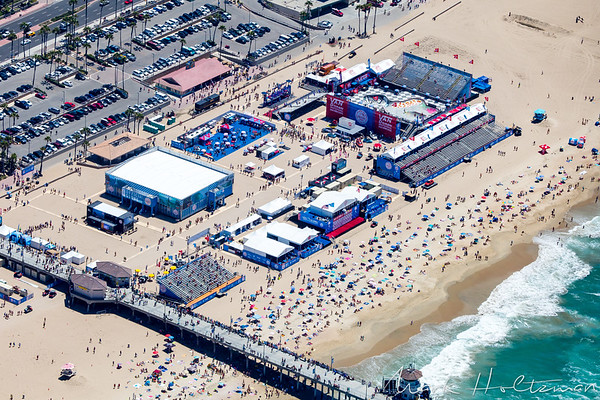 Aerial View of Vans U.S. Open of Surfing