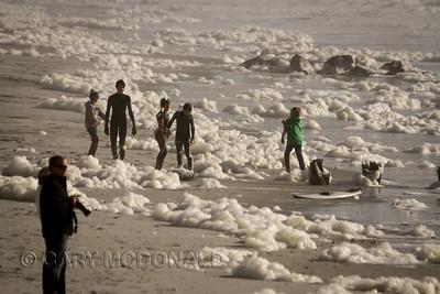 Sea Foam Fight Surfing contest  Folly Beach Washout