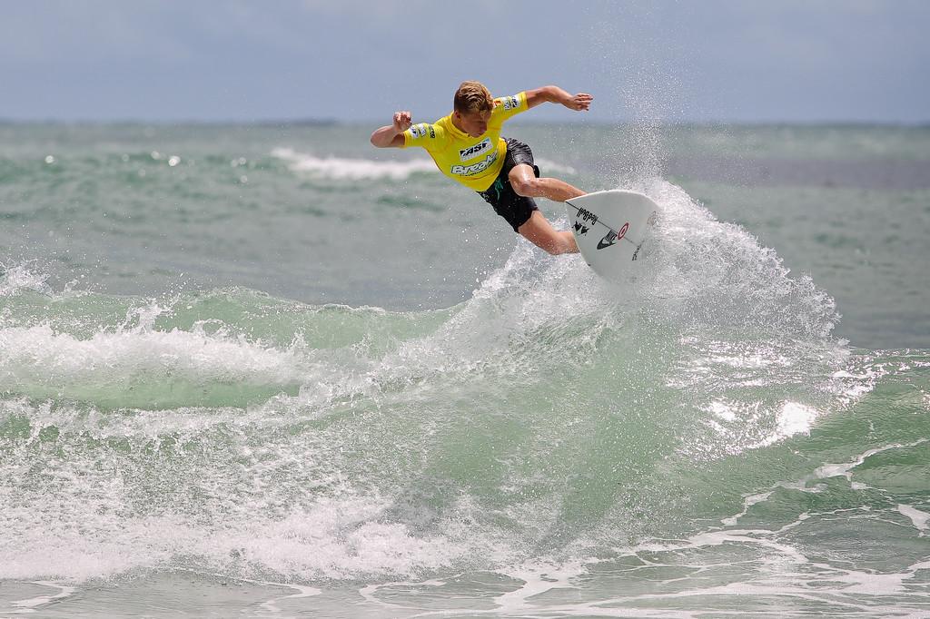"""Kolohe Andino - Breaka Burleigh Surf Pro - Surfing; Burleigh Heads, Gold Coast, Queensland, Australia. ASP 4 Star World Tour Event. Thursday 9 February 2012. Photos by Des Thureson: <a href=""""http://disci.smugmug.com"""">http://disci.smugmug.com</a>"""