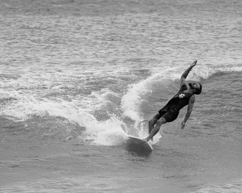 "Alternate Processing: Kodak BW CN Curve -  Surfing Burleigh, Gold Coast, Queensland, Australia; Wednesday 30 December 2015. Photos by Des Thureson - <a href=""http://disci.smugmug.com"">http://disci.smugmug.com</a>"