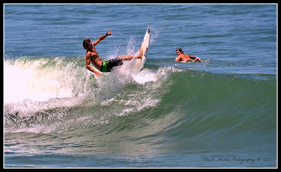 Afternoon at St. Augustine Beach. Four shot sequence, gettin' some air!!!  #1