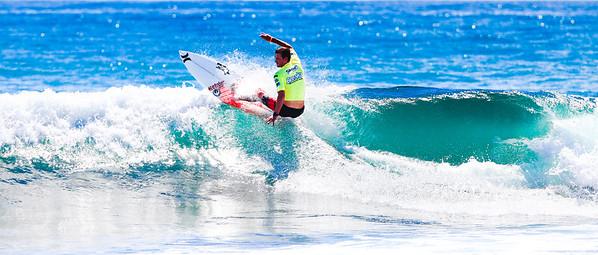 "Alt Processing: ""X-equals + LIDF - Fuji Velvia 100"". Brett Simpson -  2011 Breaka Burleigh Surf Pro - Surfing - Burleigh Heads, Gold Coast. Saturday 19 February 2011. Photos by Des Thureson."