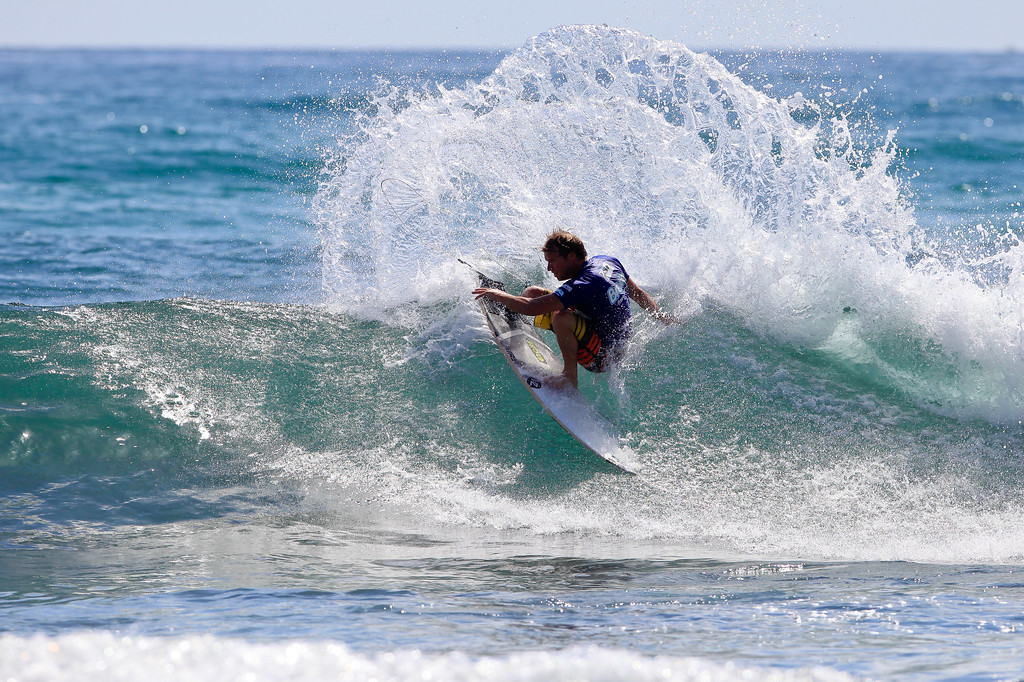 Taj Burrow - 2011 Breaka Burleigh Surf Pro - Surfing - Burleigh Heads, Gold Coast. Saturday 19 February 2011. Photos by Des Thureson.