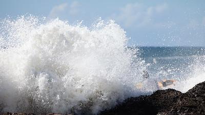 Dangerous Seas - Surfing Snapper Rocks Superbank, Coolangatta, Gold Coast. Labour Day, Monday 2 May 2011. Photos by Des Thureson.