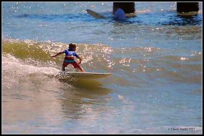 St. Augustine Beach Pier 9-28-2011 - 7 year old Josh Luteran