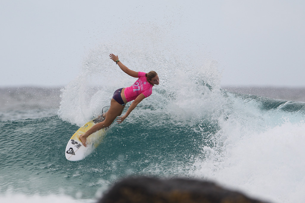 "Bianca Buitendag - Roxy Pro - 2016 Quiksilver Pro & 2015 Roxy Pro Surfing; Tuesday 15 March 2016; Snapper Rocks, Coolangatta, Gold Coast, Qld, AUS. Photos by Des Thureson - <a href=""http://disci.smugmug.com"">http://disci.smugmug.com</a>"