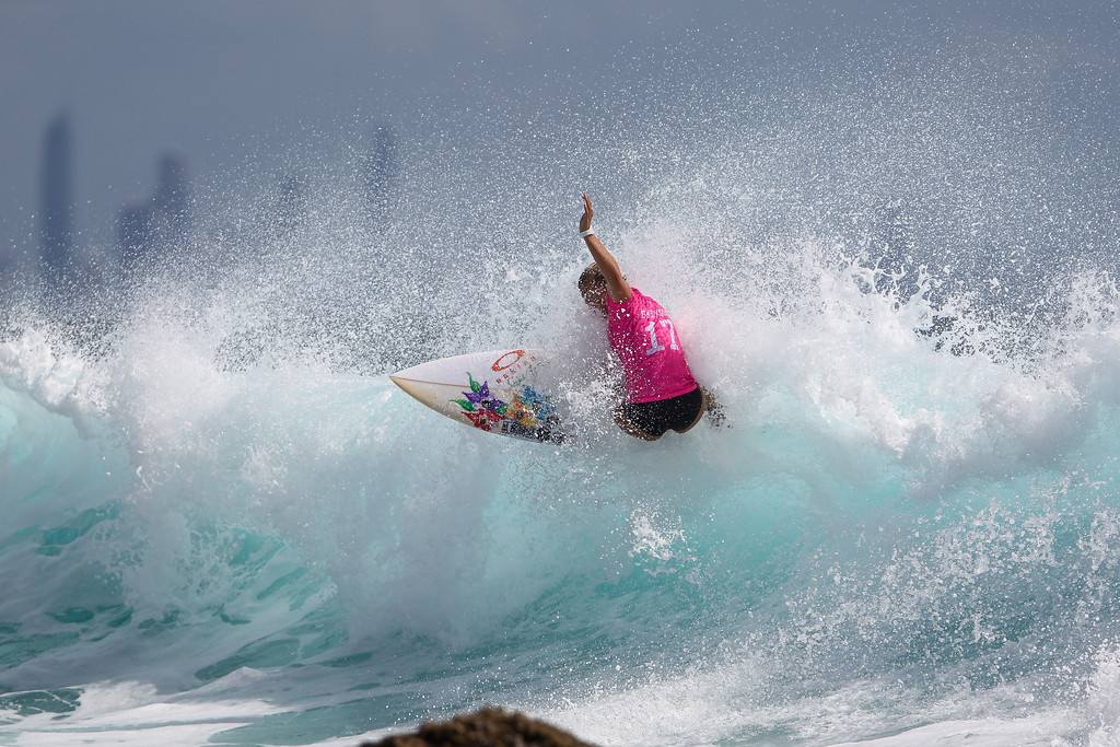 "Sage Erickson - Roxy Pro - 2016 Quiksilver Pro & 2015 Roxy Pro Surfing; Tuesday 15 March 2016; Snapper Rocks, Coolangatta, Gold Coast, Qld, AUS. Photos by Des Thureson - <a href=""http://disci.smugmug.com"">http://disci.smugmug.com</a>"