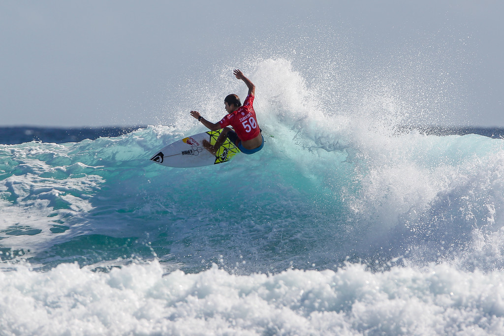 "Kanoa Igarashi - Quiksilver Pro - 2016 Quiksilver Pro & 2016 Roxy Pro Surfing; Tuesday 15 March 2016; Snapper Rocks, Coolangatta, Gold Coast, Qld, AUS. Photos by Des Thureson - <a href=""http://disci.smugmug.com"">http://disci.smugmug.com</a>"