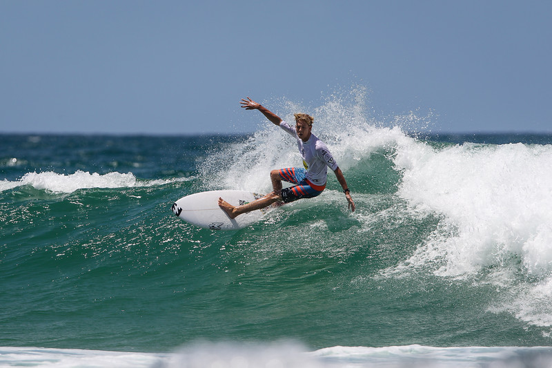 "Kalani Ball - Scoot Burleigh Pro Presented by Vissla 2015 - Surfing; Burleigh Heads, Gold Coast, Queensland, Australia. World Surf League (WSL) QS 1000-rated men's and women's event. - Friday 30 January 2015. Photos by Des Thureson: <a href=""http://disci.smugmug.com"">http://disci.smugmug.com</a>"