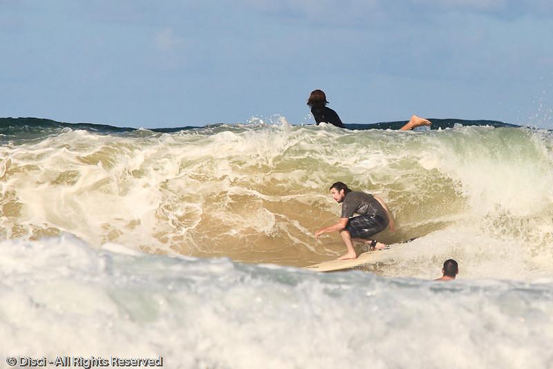Surfing Burleigh afternoon 5-2-10