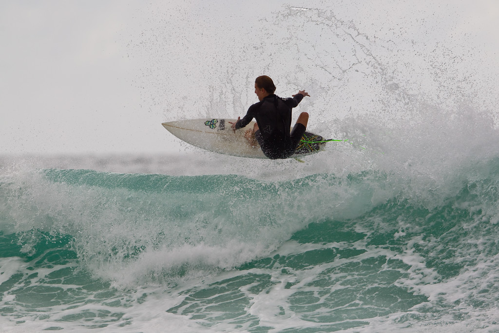 """Aerial - Surfing Currumbin & Burleigh; , Gold Coast, Queensland, Australia; 25 July 2012. Photos by Des Thureson - <a href=""""http://disci.smugmug.com"""">http://disci.smugmug.com</a>. Burleigh."""