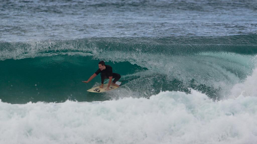 "Tube / Barrel Ride - Surfing Currumbin & Burleigh; , Gold Coast, Queensland, Australia; 25 July 2012. Photos by Des Thureson - <a href=""http://disci.smugmug.com"">http://disci.smugmug.com</a>.  Currumbin Beach."