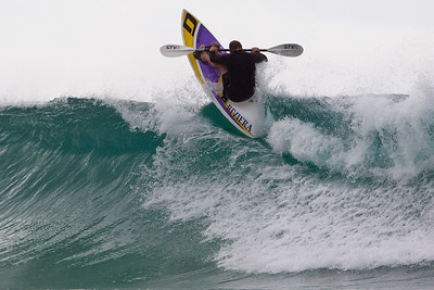 Surf Ski Action - Surfing Currumbin & Burleigh; , Gold Coast, Queensland, Australia; 25 July 2012. Photos by Des Thureson - http://disci.smugmug.com. Burleigh.
