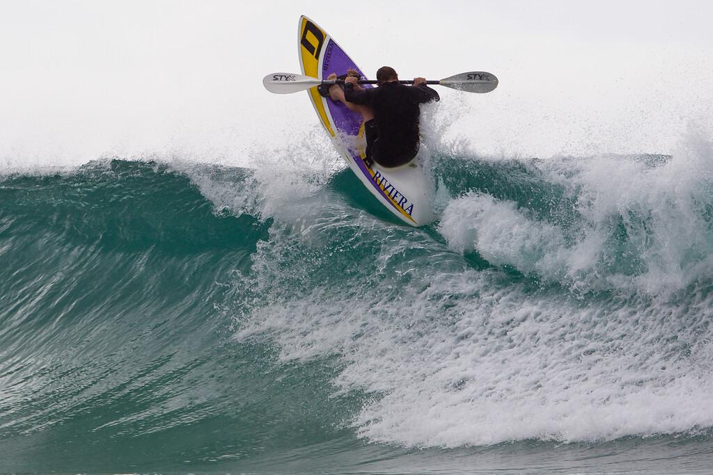 "Surf Ski Action - Surfing Currumbin & Burleigh; , Gold Coast, Queensland, Australia; 25 July 2012. Photos by Des Thureson - <a href=""http://disci.smugmug.com"">http://disci.smugmug.com</a>. Burleigh."