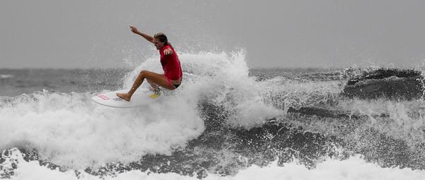 """Steph Gilmore (Stephanie Gilmore) - Surfing Duranbah, 15 January 2013 - Tweed Heads, Nth NSW, Australia. Photos by Des Thureson - <a href=""""http://disci.smugmug.com"""">http://disci.smugmug.com</a> (Selective Colour Removal)"""