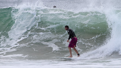 Surfing Snapper Rocks Superbank, Coolangatta, Gold Coast. Includes ten times World Champion Kelly Slater. Friday 29 March 2011. Photos by Des Thureson.