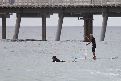 Surfing Southport Spit 2-1-2010