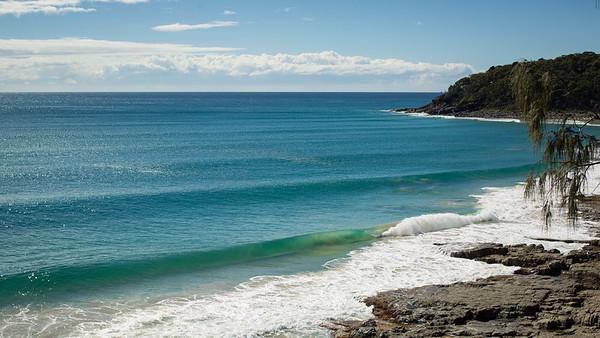 Surfing Granite Bay & Tea Tree Bay, Noosa Heads