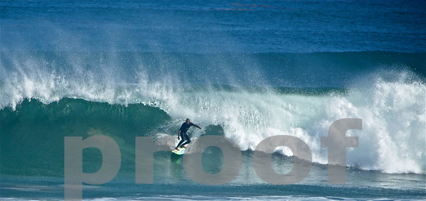 Surfing the big waves in Malibu, Aug '14