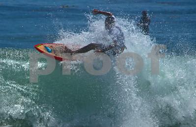 Surfing The Cove in Malibu, 2014