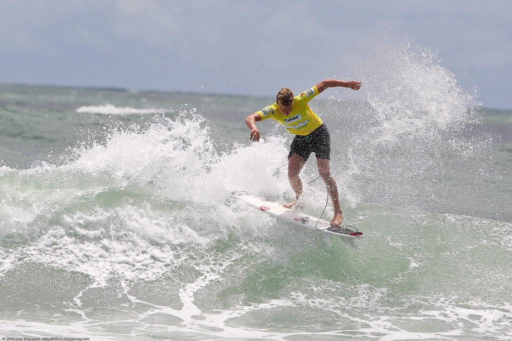 "Kolohe Andino - Breaka Burleigh Surf Pro - Surfing; Burleigh Heads, Gold Coast, Queensland, Australia. ASP 4 Star World Tour Event. Thursday 9 February 2012. Photos by Des Thureson: <a href=""http://disci.smugmug.com"">http://disci.smugmug.com</a>- UNEDITED / Minimal cropping / Horizons not levelled."