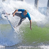 Surfer at the Kona Pro Jax surfing competition in Jacksonville Beach, Fl.