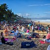 Some spectators at<br /> Billabong Pipe Masters<br /> Andy Irons Memorial<br /> Pipeline, North Shore Oahu