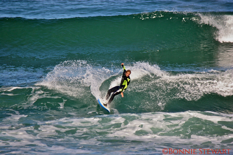 Chris Stewart surfing