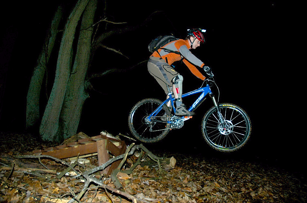 Shackleford Shore - at night - on a hardtail - very 'core!
