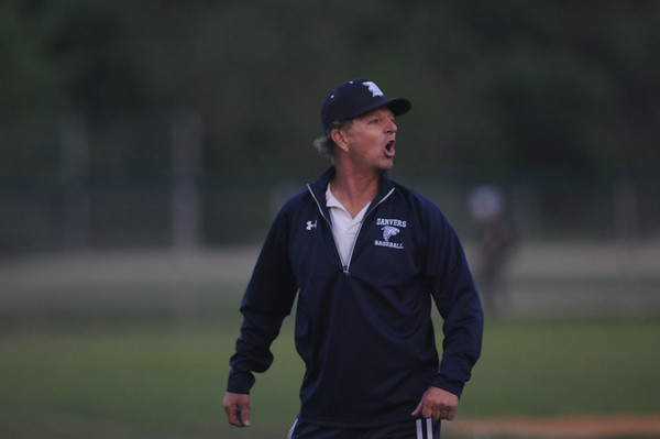 PAUL BILODEAU/Staff photo. during the Falcons' game against Swampscott's Big Blue at Twi-Field in Danvers.