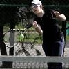 KEN YUSZKUS/Staff photo.   Swampscott's singles player Anna Raptunovich   during the Swampscott at Danvers girls tennis match.    5/8/15