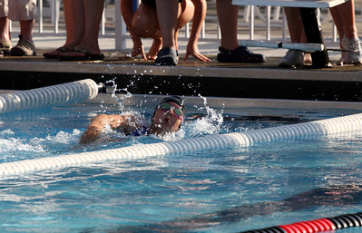 First leg of medley. Anna at the Edge vs Essex swim meet in Essex outdoor pool, July 2010.