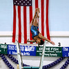 Record-Eagle/Jan-Michael Stump<br />  Traverse City's Suha Augenstein performs her first dive during Thursday's meet against Gaylord.