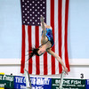 Record-Eagle/Jan-Michael Stump<br />  Traverse City's Lily Busineau performs her first dive during Thursday's meet against Gaylord.