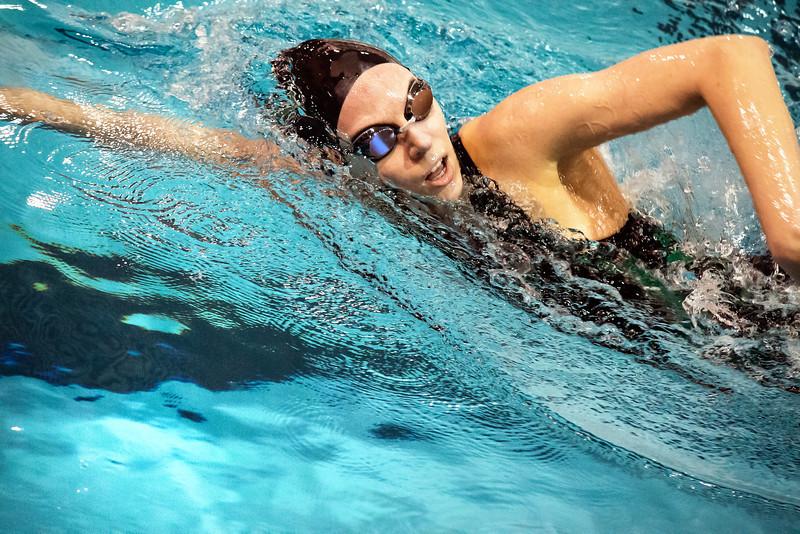York College swimmer