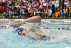 Sullivan South's Mollie Swayne swimming the freestyle portion of the 200 yard IM. Photo by ned Jilton II