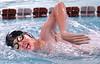 Dobyns Bennett's Daniel Sample, winner in the men 200 meter freestyle. Photo by Ned Jilton II