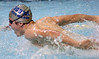 Sullivan South's Brad Wright swimming the butterfly portion of the 200 yard IM at the Northeast tennessee swim meet in Bristol. Photo by Ned Jilton II