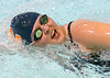 Sullivan Central's Cher Bowman swimming in heat one of the women's 200 yard Freestyle. Photo by ned Jilton II