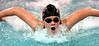 Dobyns Bennett's Kendra Brooks swims the butterfly segment of the girls 200 meter IM. She finished second in the event. Photo by Ned Jilton II