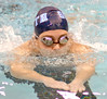 Sullivan South's Lara Gatton swimming the brest stroke leg of the boys 200 yard medley relay. Photo by Ned Jilton II