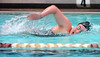 Laura McAdams of Dobyns Bennett in the Women's 200 yard freestyle at the Big 6 swim meet. Photo by Ned Jilton II