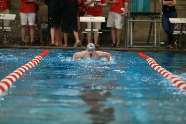 High School Swimming - Marquette vs Houghton - 01/20/14