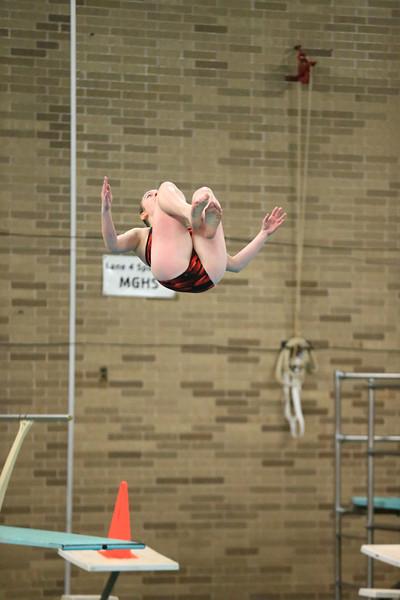 High School Swimming & Diving - UP Finals - 1 Meter Diving - 02/14/14
