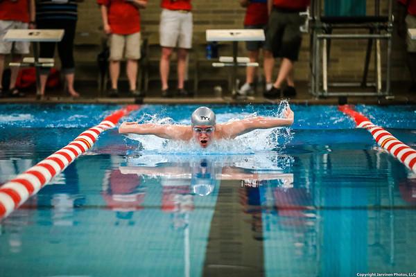 High School Swimming  & Diving - UP Finals - 02/15/14