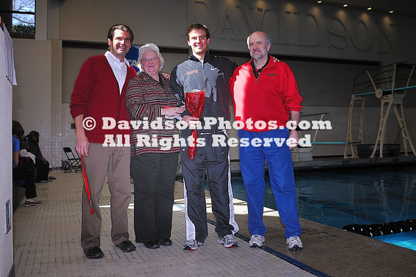 22 January 2011:  Davidson hosts Liberty in swimming action at Charles A. Cannon Pool in Davidson, North Carolina.