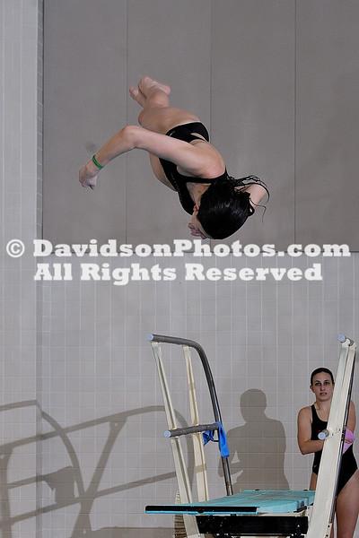 28 January 2011:  VMI visits Davidson in swimming action at Charles A. Cannon Pool in Davidson, North Carolina.